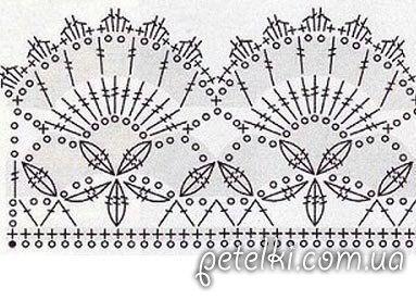 Очень красивая прямая юбка. Схемы вязания крюком