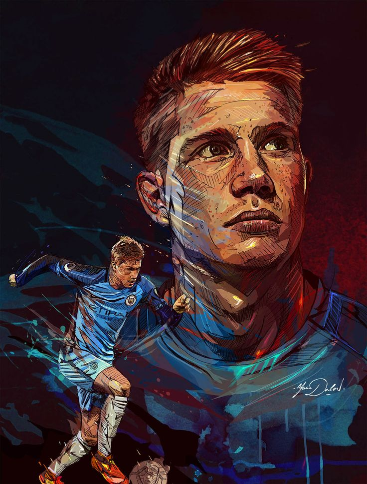 My painting of the young star of Manchester City and the team of Belgium, Kevin de Bruyne.