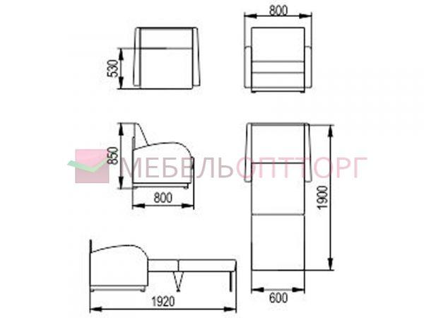 Раскладное кресло-кровать Стандарт, купить недорого в спб