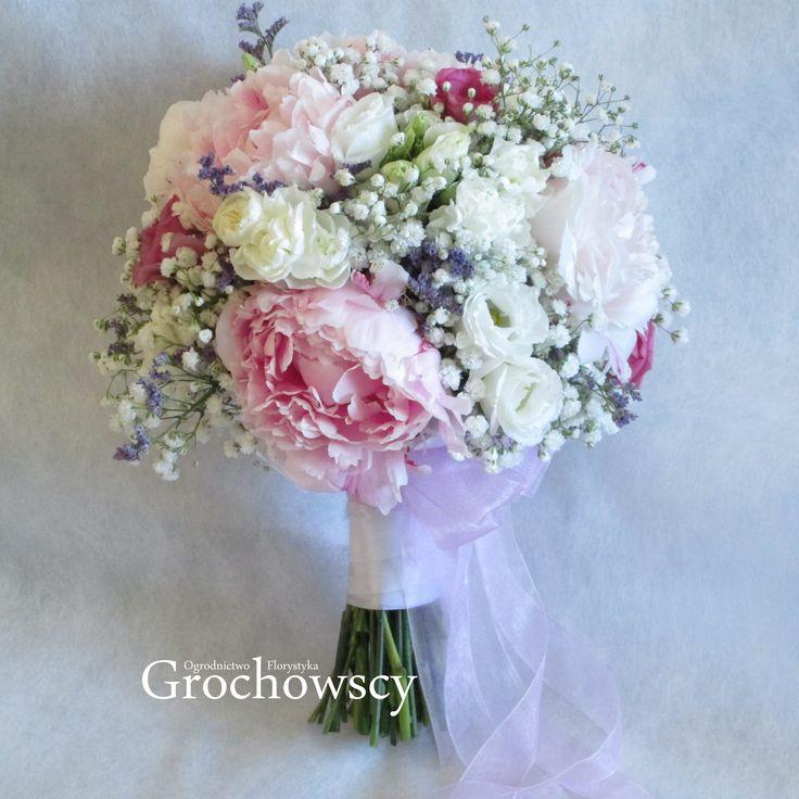 bukiet ślubny Człuchów  pink peonies wedding bouquet #piwonie #peonie #bohowedding #bohobouquet #boho #red #peony #peonies #pinkbouquet #weddingbouquet #ribbons