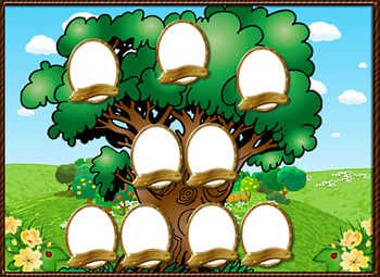 Molduras para fotocolagem online. Categoria: Árvore genealógica