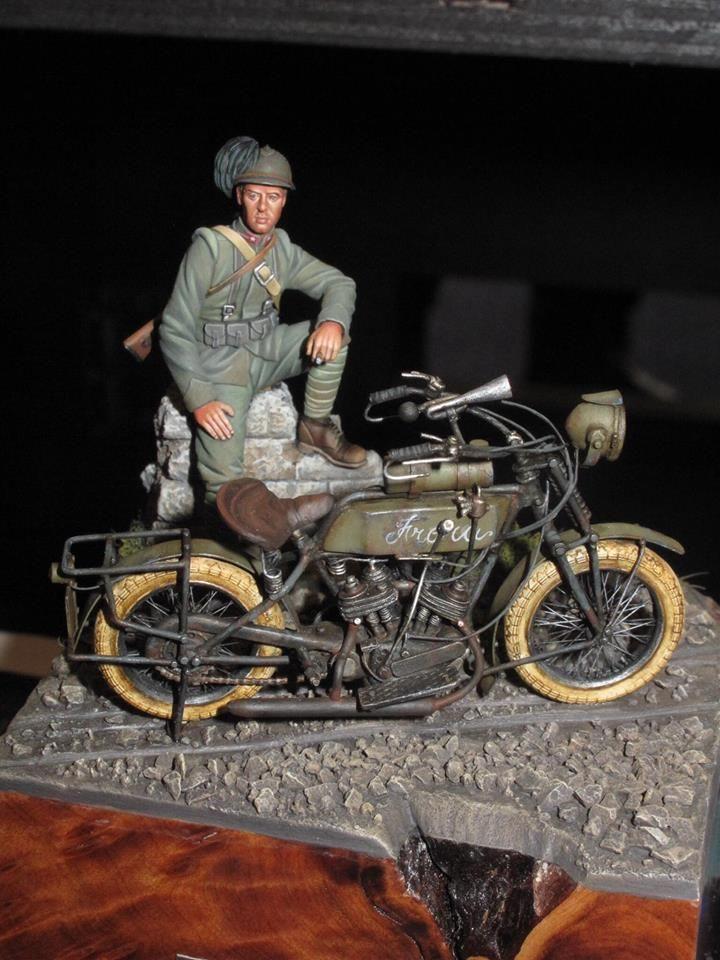Italian First World War motorcyclist