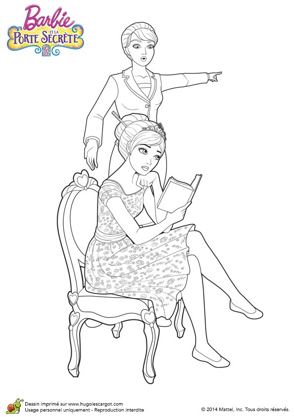 Coloriage du film barbie et la porte secr te alexa en for Chaise dessin