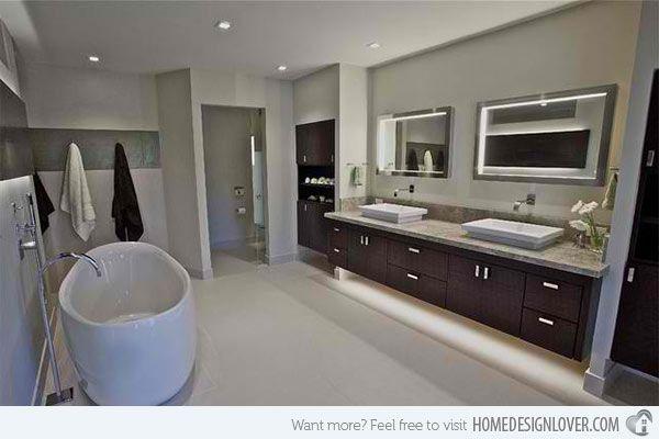 Master suite bathroom countertop ideas http://www.jambic.com/luxury-bathroom-countertop-ideas/