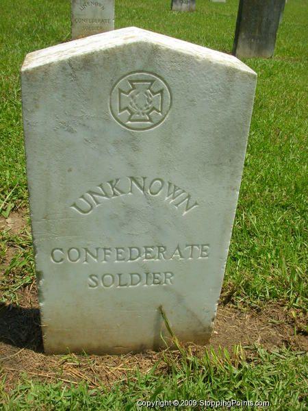 Gravestone of an Unknown Confederate Soldier | Civil War ...