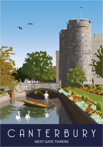 Canterbury West Gate Towers. I have never been on a punting trip down the River Stour but maybe one day!