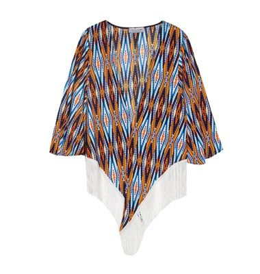 Aztec print tunic with fringes
