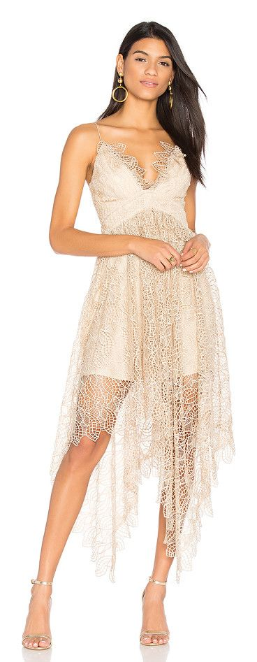Elan Lace Dress by Acler. Poly blend. Dry clean only. Fully lined. Plastic bodice boning. Allover lace fabric. Hidden side zipper closure. CELR...