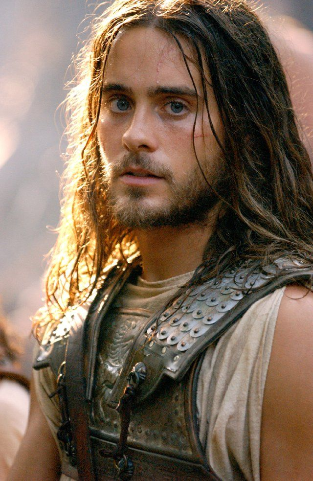 Jared Leto in Alexander   Long hair, short hair, blue, spiked, facial hair or none he is a beautiful man!