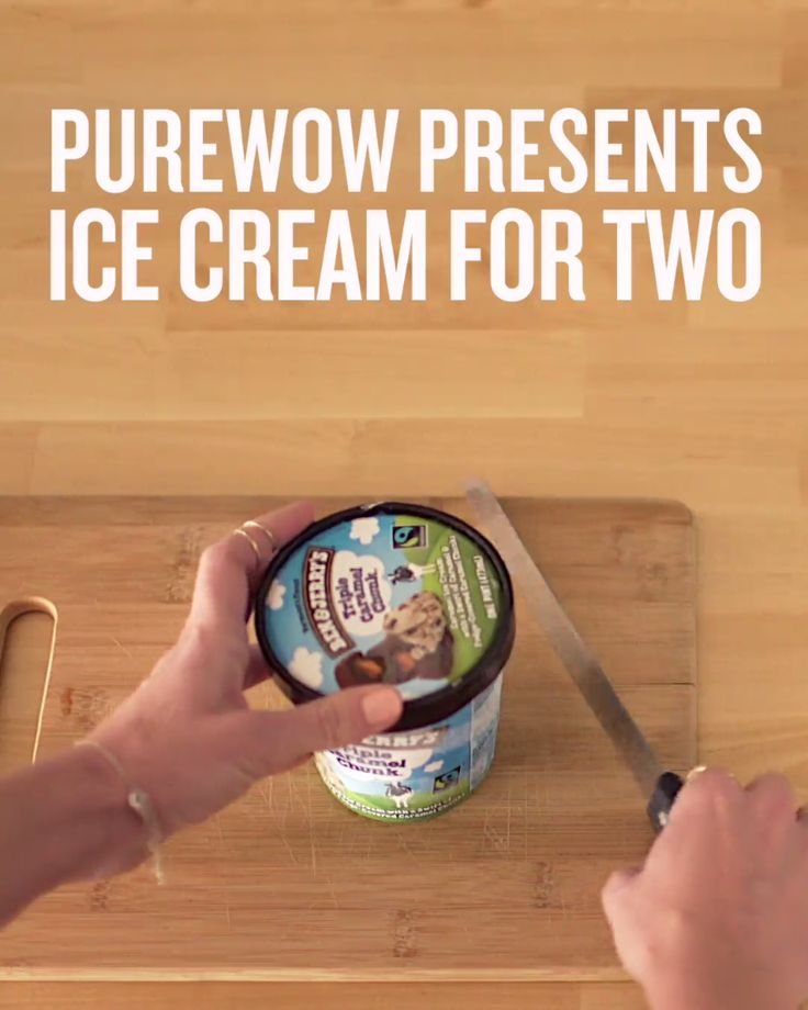 Here's the easiest way to share a pint of ice cream.