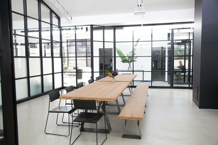 This office serves as an event space, catwalk and meeting space. The minimalist #design keeps distraction to a minimum.