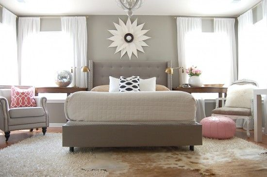 Pure Beauty. Via The Nester http://www.thenester.com/2012/07/a-light-bedroom-adjustment.html#