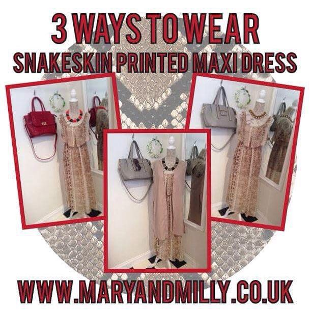 Make a statement in Mary & Milly this season! Our gorgeous snakeskin maxi is just £27 & perfect for any special occasion this season! We've also made shopping easier for you by styling it up 3 different ways! Get the looks at 21 Guildhall Street, Preston City Centre, order through Facebook or shop online with FREE UK shipping at www.maryandmilly.co.uk! M&M x