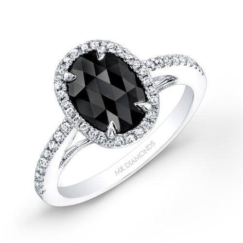 1 carat Black Diamond Engagement Ring