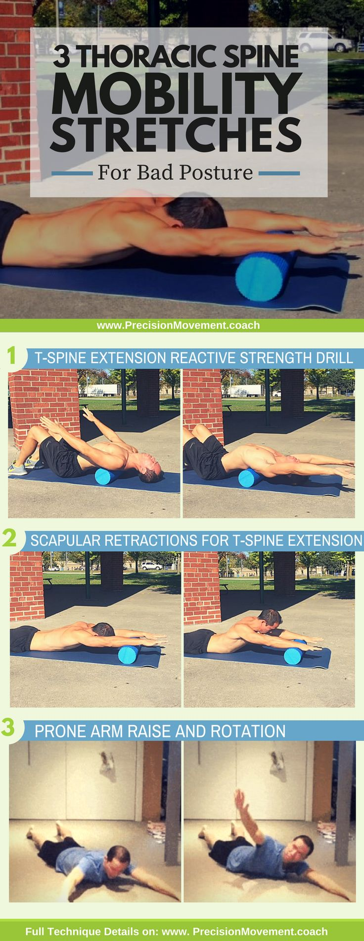 These exercises do more than just help prevent a hunchback – they will also help prevent pain throughout your back and your body by addressing the muscular weaknesses that are making T-spine issues al