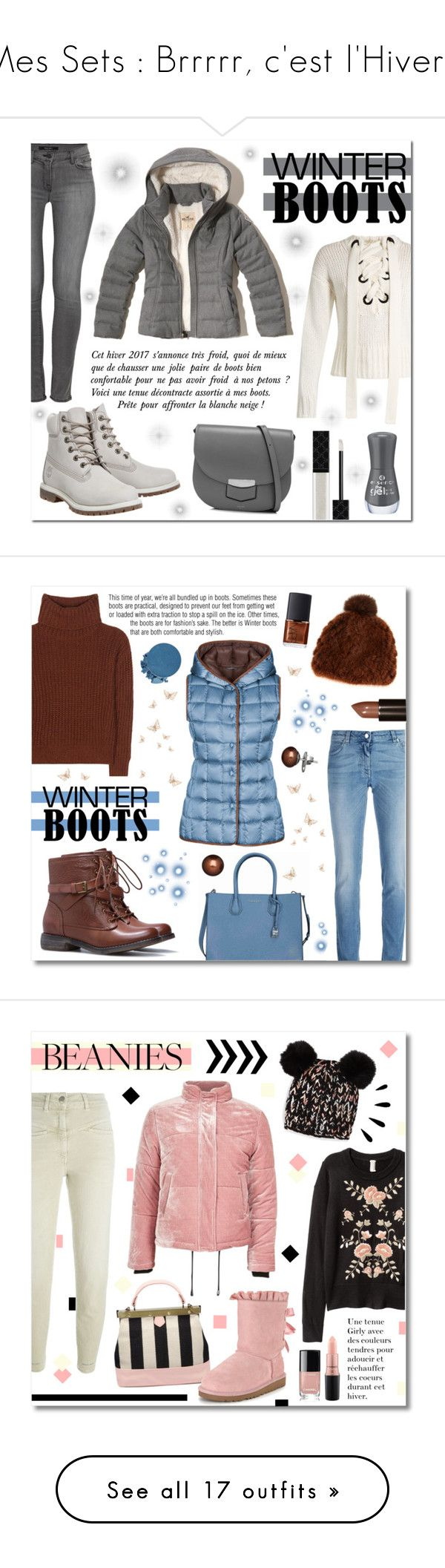 """Mes Sets : Brrrrr, c'est l'Hiver !"" by drinouchou ❤ liked on Polyvore featuring Timberland, J Brand, Hollister Co., Joseph, Gucci, winterboots, Honora, FAY, Givenchy and Loro Piana"