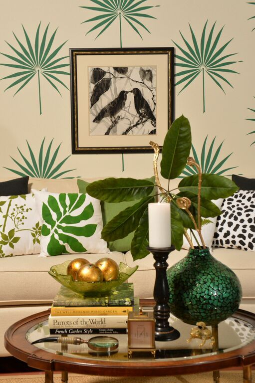 stenciled accent walls wall stenciling tropical home decor tropical