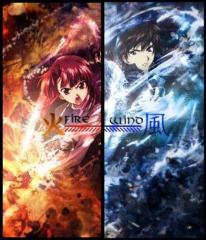 Fire (Ayano) + Wind (Kazuma) - Kaze no Stigma