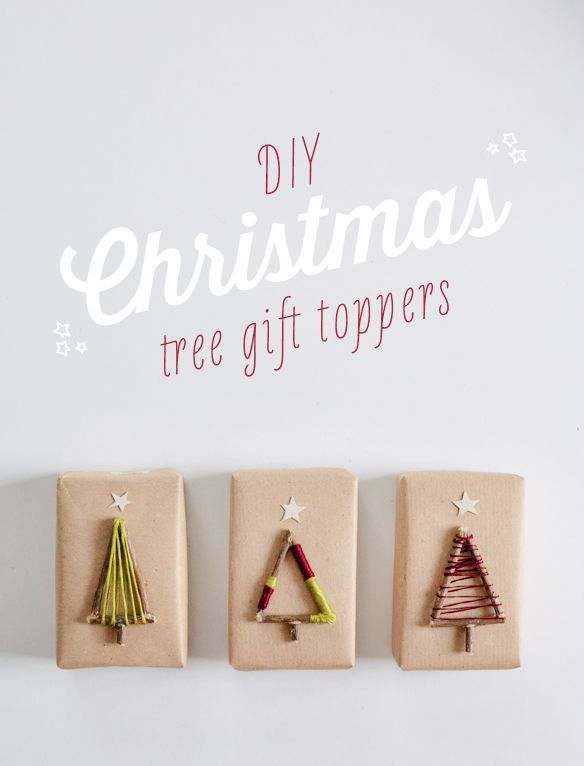 DIY Christmas Tree Gift Toppers - out of STICKS!