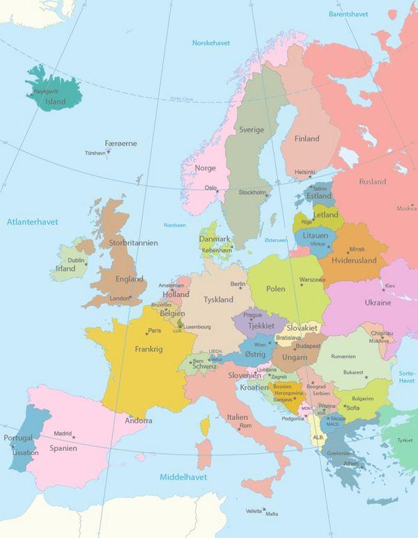 Europas lande - et undervisningsmateriale til naturteknologi