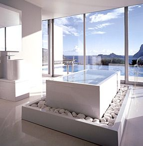 Could definitely go for a bath here!!: Bathroom Design, Modernbathroom, Bath Tubs, Modern Bathroom, The View, Bathtubs, Dreams Bathroom, Beautiful Bathroom, Design Bathroom