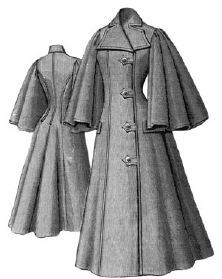 1896 Spring Cloak with Bell Sleeves Pattern