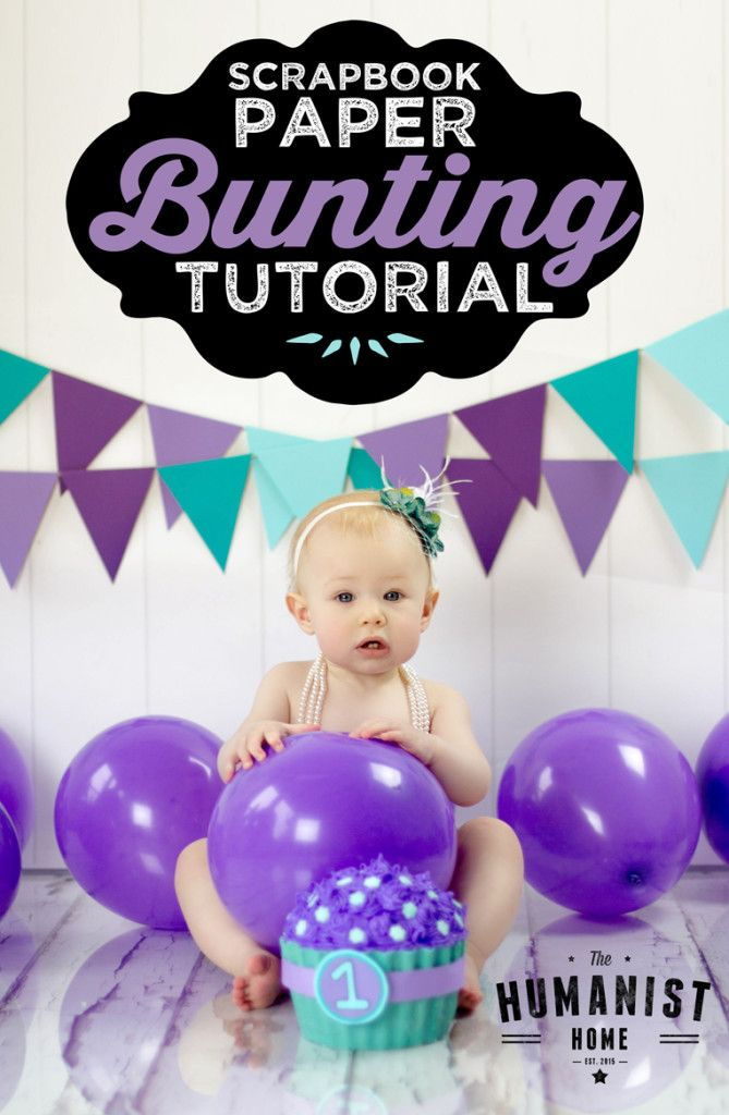 DIY - Scrapbook Paper Bunting Tutorial for photography & party decor. Pin for later!