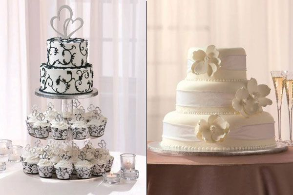 Pretty wedding cakes from Publix!