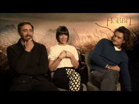 Orlando Bloom, Lee Pace, Evangeline Lilly Talk About The Hobbit on The Anglophile Channel.