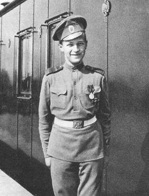 Great-grandchild of Christian IX - Alexei Nikolaevich (1904 – 1918) of the House of Romanov, was the heir apparent to the throne of the Russian Empire. He was the youngest child & the only son of Tsar Nicholas II & Alexandra Feodorovna. He was born with hemophilia; his mother's reliance on the starets Grigori Rasputin to treat the disease helped bring about the end of the Romanov dynasty. He was murdered alongside his parents & four sisters in 1918
