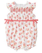 smocking on rompers = to die for! love.