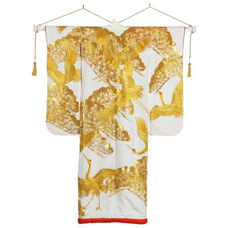Buy Vintage Collectable Japanese  Ceremonial Kimono by Mosaik - Limited Edition designer Accessories from Dering Hall's collection of Traditional Decorative Objects.