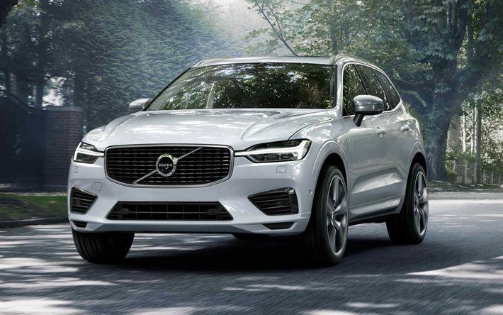Descargar fondos de pantalla Volvo XC90, 2018 coches, Todoterrenos, coches de lujo, blanco XC90 de Volvo