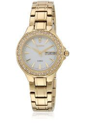 Casio She-4800G-7Audr-Sx102 Golden/White Analog Watch Online Shopping Store