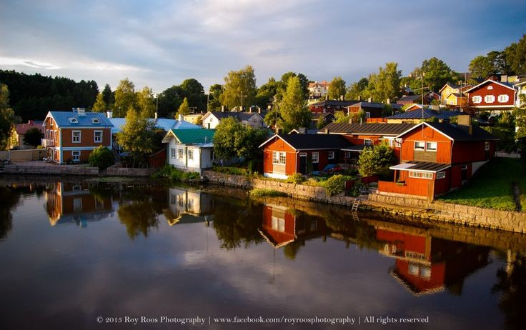 Porvoo Old Town on the river, Craft, culture, history, color. http://www.kontikifinland.com/holidays/destination/1184417/porvoo/day-trip-to-porvoo-the-historic-wooden-town