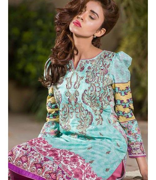 Signature Icon Embroidered Lawn Collection 2016 ZS_5B