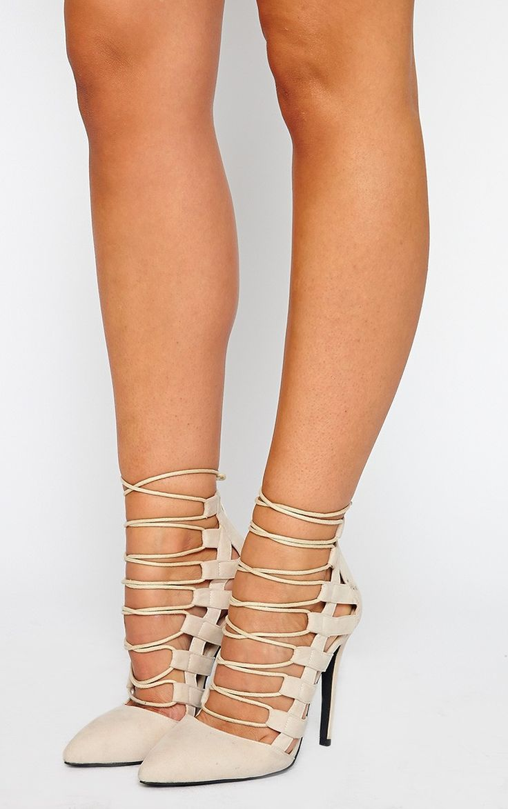 Amaris Nude Pointed Strappy Heels  Shoes  Heels, Strappy -2358