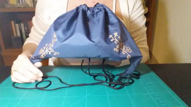 Mochila diy con la tela de un paraguas roto manualidades - Tela de paraguas ...