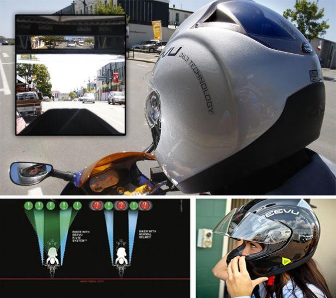 REEVU RV MSX1 - The Rear View Mirror Motorcycle Helmet http://coolpile.com/gear-magazine/reevu-rv-msx1-the-rear-view-mirror-motorcycle-helmet/ via CoolPile.com - $360 -  Cool, Gifts For Her, Gifts For Him, Helmets, Motorcycle Gear, Rear View Mirrors, Safety