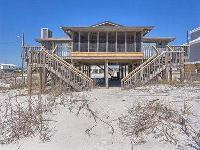 Driftwood Inn Fort Morgan Gulf Front Vacation House Rental.