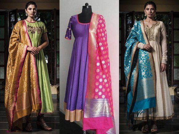 5dcd12d71d How To Style Banarasi Dupatta For A Classic Look   Saree blouses in ...