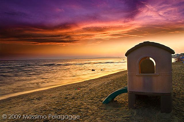 Toscana Follonica spiaggia al tramonto   #TuscanyAgriturismoGiratola