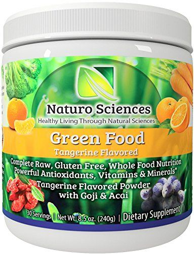 Super Greens Food Supplement By Naturo Sciences the First Complete Green Food To Go Nutrition with Powerful Food Based Multi Vitamins with Amazing Wheat Grass for You Tangerine 8.5oz 30 Servings ** Visit the image link more details.