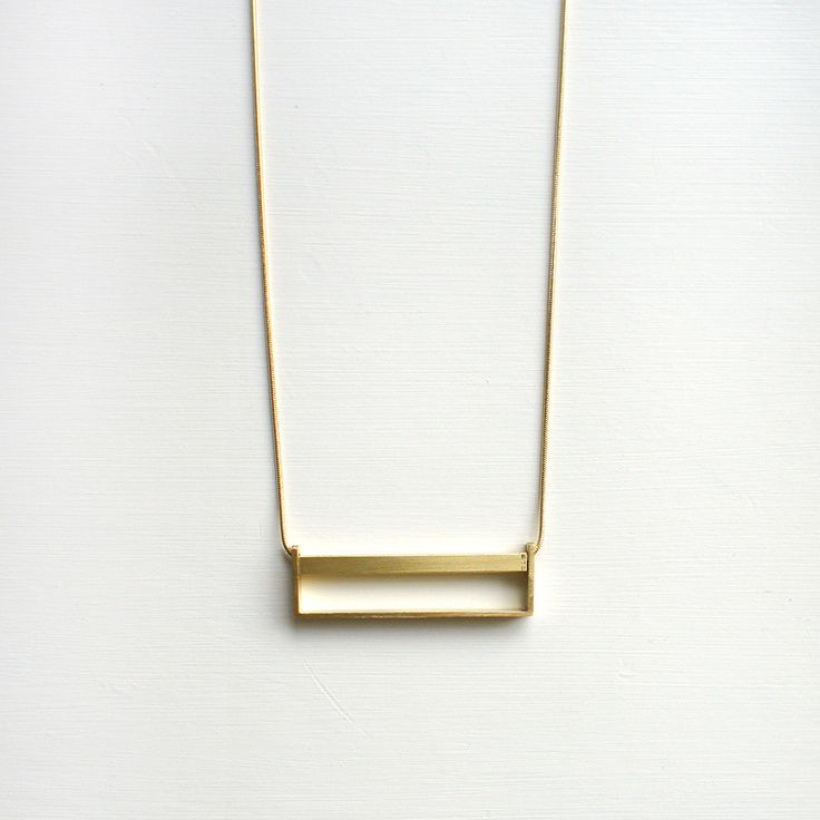 Horizontal Brass Necklace