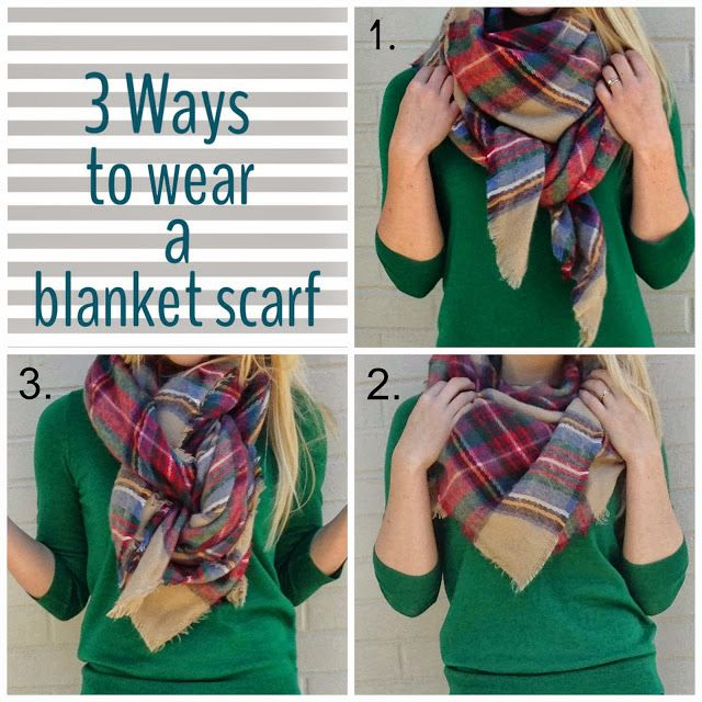 Simply Whit in a Sequined Life: THREE WAYS TO WEAR A BLANKET SCARF