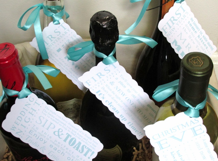 Wedding present idea? Wine w/ poems for each occasion...wedding night, honeymoon, 1st anniversary, 1st Xmas, 1st New Years.