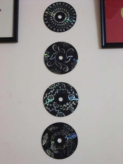 CD scratch art.