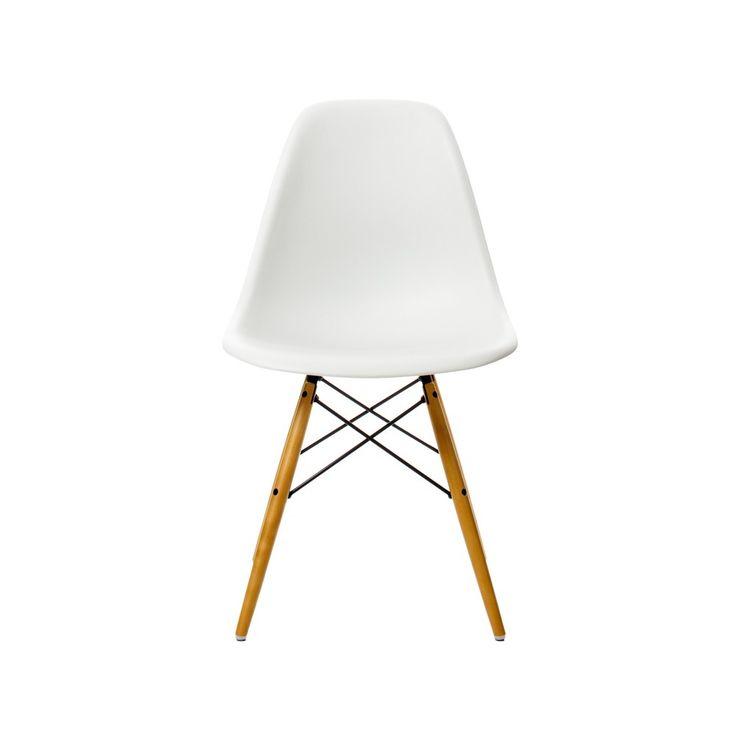 Eames stol DSW -  white, trä