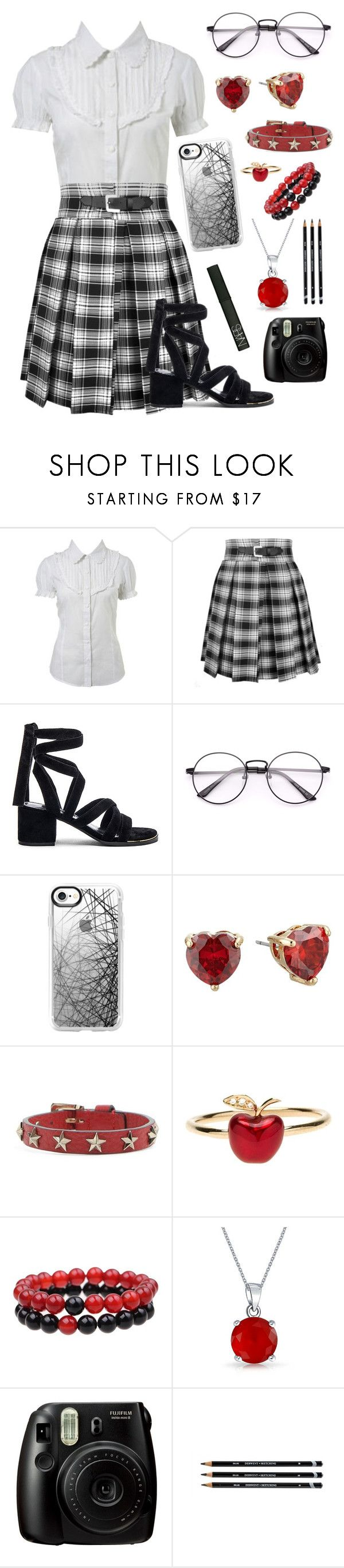 """""""Breathe"""" by kbelle28 ❤ liked on Polyvore featuring Miss Selfridge, Senso, Casetify, Betsey Johnson, RED Valentino, Alison Lou, Bling Jewelry, Fujifilm and NARS Cosmetics"""