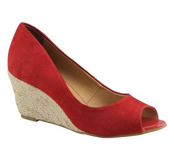 Sapato peep toe com salto anabela | Sapatos | Bottero Calçados